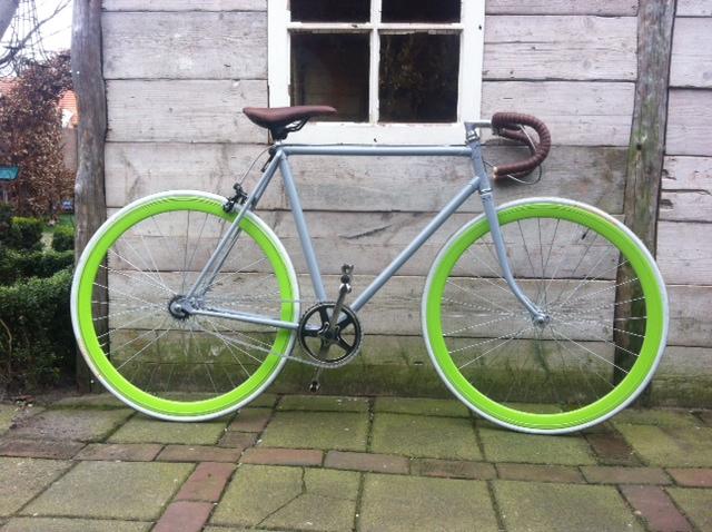 Race groene wielen